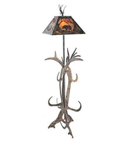 - Meyda Tiffany 95023 Bear at Dawn Antler Floor Lamp, 61