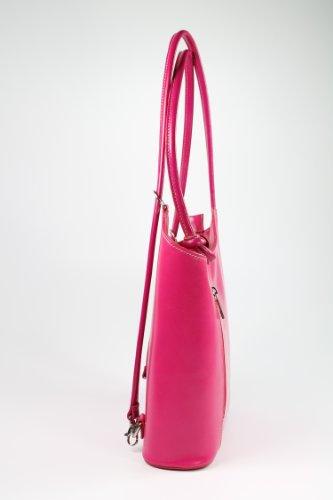 x Rosa de 28 piel italiano 28 diferentes ancho x piel para fina alto Belli Belli mochila de piel colores mujer en mochila 8cm Bolso fondo x de x pg5qW5