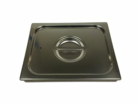 Paderno World Cuisine 14 inches by 12 1/2 inches Stainless-steel Standard Lid for Hotel Pan - 2/3 - 2/3 Baking Pan
