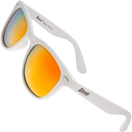 Rivacci Classic 80s Designer Retro Wayfarer Sunglasses Polarized for Men Women