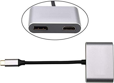 Cablecc USB-C USB 3.1 Type C a HDMI 4K 30HZ  and  DisplayPor