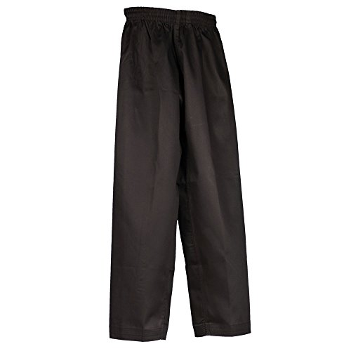 Tiger Claw Martial Arts Pants Poly/Cotton (Black, 000)