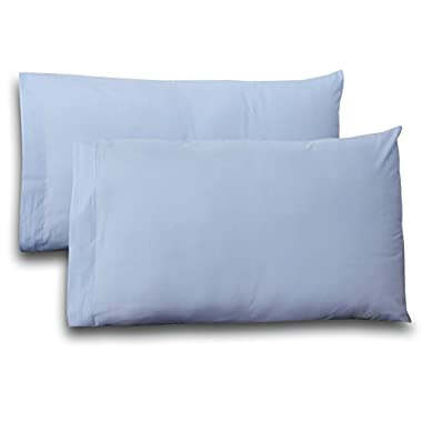 King Pure-Cotton Sateen Pillow Case Covers - (2-Pack, each 20 inches x 40 inches, Light Blue) 100% Cotton for Maximum Softness and Easy Care, Elegant Double-Stitched Tailoring - by Utopia Bedding