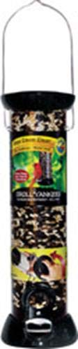 Droll Yankees CC12S 12-Inch Onyx Sunflower Tube Bird Feeder with Removable Base ()