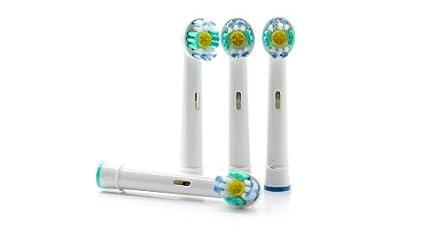 Frost® 3D White compatibile 4 X Recambio para Cepillo eléctrico Compatible y en forma Braun
