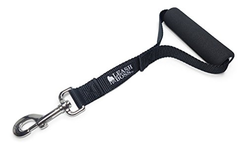 - Leashboss Traffic Handler - 12 Inch - Short Dog Leash for Large Dogs with Padded Handle - Service, Training, or Walking Tab (12 Inch, Black)