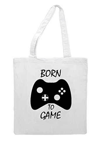 Born Bag Gaming Shopper Buttons Controller Game Tote Statement To White With rOnaFq6rC