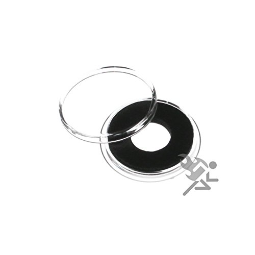 (10) Air-tite 12mm Black Ring Coin Holder Capsules