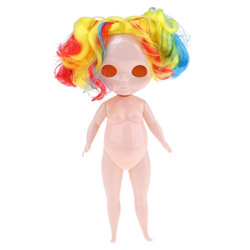 FLAMEER 1/6スケールブライスドールのため 白いスキン 脂肪ヌードボディ フェイスプレート 人形ウィッグ 全2色 - #1