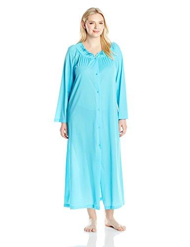 Shadowline Women's Plus Size Petals 54 inch Sleeve Long C...