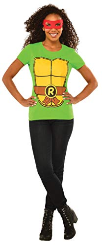 Rubie's Men's Costume Teenage Mutant Ninja Turtles Raphael Top with Mask, Green Extra Large]()