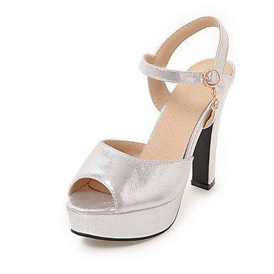 YFF Hochzeit Gold Silber Peep Pumpe Toe High Heel Pumpe Peep hohe Schuhe Sandalen Sliver US 8   EU 39 UK6 CN 39 d80f3d