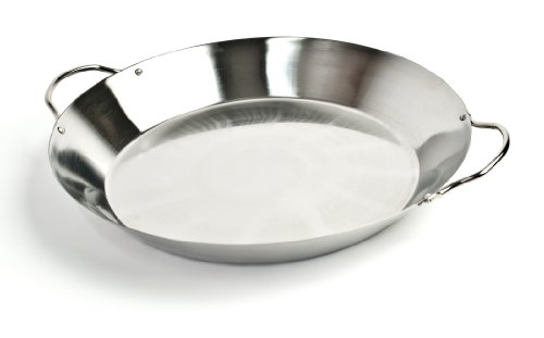 Charcoal Companion Stainless Paella Pan - CC1986 (Outdoor Pan Paella)