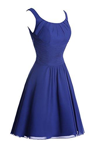Dora Les Femmes De Mariée Et Aiguë; S Une Ligne De Bretelles Robe De Demoiselle D'honneur En Mousseline De Soie Bleu 2016