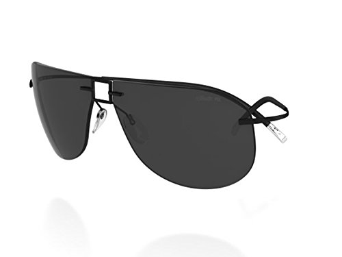 Silhouette Titanium Sunglasses Titan Minimal Art the Icon 8154 8688 (8688 MATTE BLACK - Silhouette Sunglasses Titan