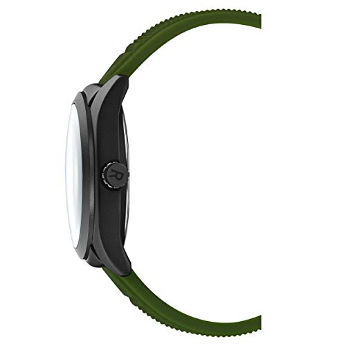 Kenneth Cole Reaction Mens Dress Sport Round Green Silicon Strap Watch