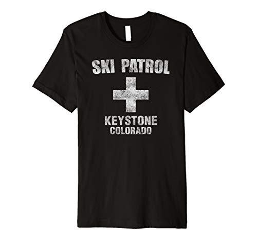 Retro Official Keystone Colorado Ski Patrol T-Shirt (Best Ski Slopes In Colorado)