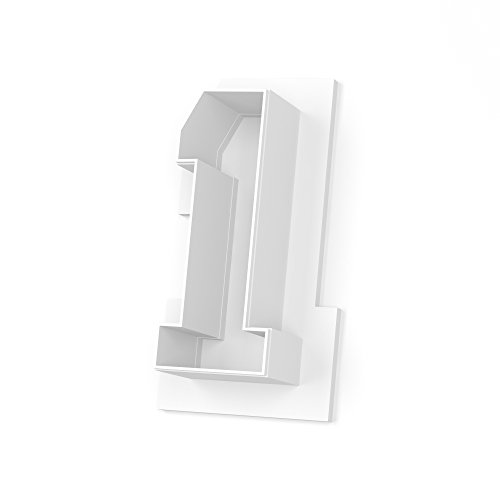 Collegiate Number 1 Cookie Cutter - LARGE - 4 Inches