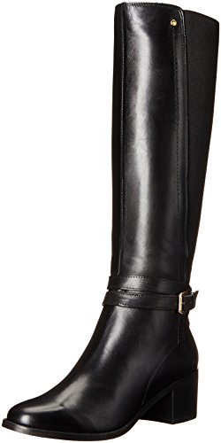 Dune London Women's Vivv Riding Boot - Black Leather - 38...