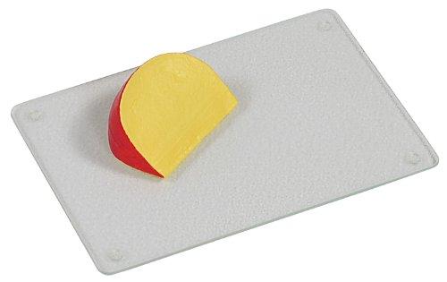 Kesper 35300 Glas-Schneideplatte mit geriffelter Oberfläche, gehärtetes Sicherheitsglas, Maße: 30 x 20 x 0.7 cm