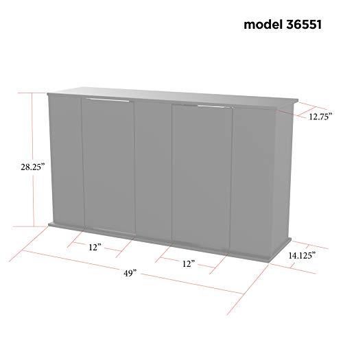 Aquatic Fundamentals AMZ-36551-01, 55 Gallon Aquarium Stand with Double Door Storage, Black Finish