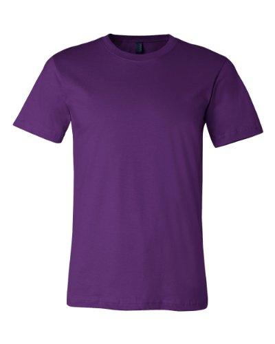 (Canvas Unisex Jersey T-Shirt 3001 - Team Purple - Medium)