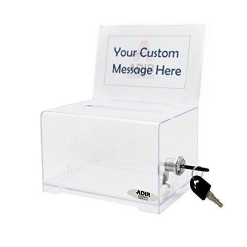 - Adir Acrylic Donation & Ballot Box With Lock (6.25