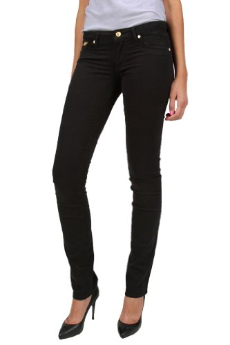 - Robin's Jean Marilyn Black Stretch Poplin Straight Leg