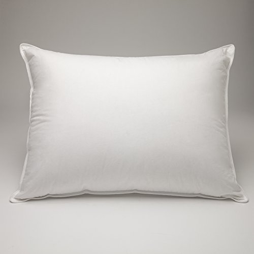 FineFeather 100% White Goose Down Pillow, Luxury 550 Fill Power, Firm, Queen Size
