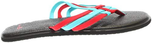 Sanuk Bright Flip Salty Yoga Women's Red flop Aqua rwYSr