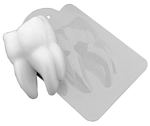 1pc Big Tooth Dentist Doctor Halloween Gothic Vampire Scary Plastic Soap Making Mold Gift for Her for Him Mould 84x55x25mm