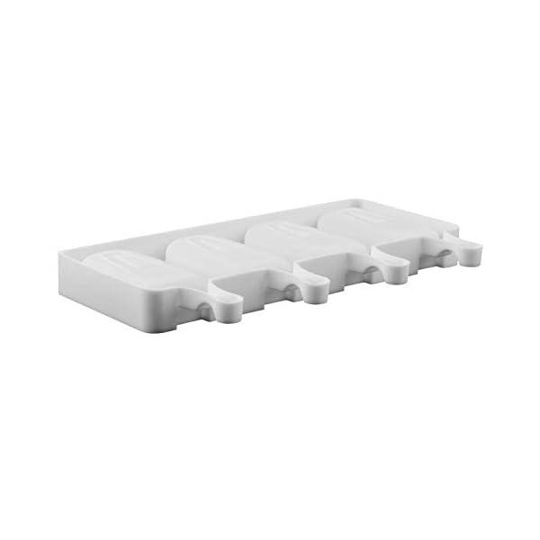 Wisilan - Stampi in gel di silice per gelato con motivo spray, per decorare vaschette del ghiaccio 4.8x9cm White-l 5 spesavip