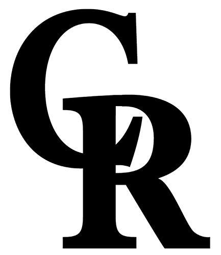 Colorado Rockies Logo Die Cut Vinyl Sticker Decal