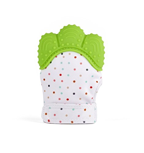 WONGYEE WONGYEE Silicone Teething Baby Mitten Hygienic Baby Soothing Mitt Silicone Teether Mitten for Self-soothing,Ideal Baby Shower Gift with Handy Travel Bag ~Unisex for 3-12 Months Baby