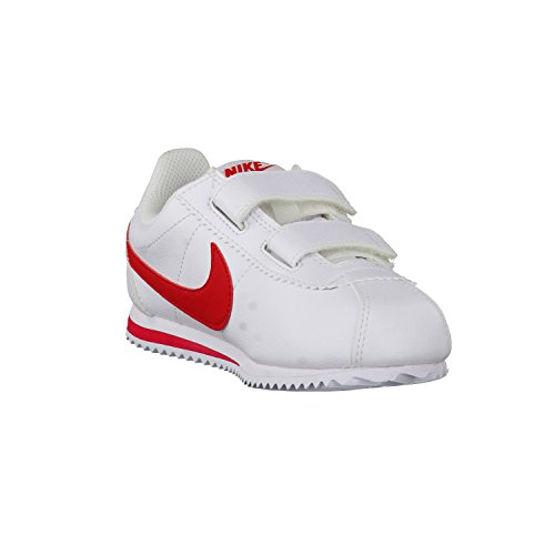 Nike White / University Red, Zapatos de Primeros Pasos para Bebés Blanco (Blanco (White / University Red))