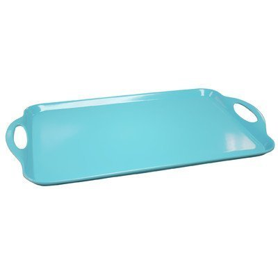 Calypso Basics by Reston Lloyd Melamine Rectangular Tray, Turquoise (Trays Handles Melamine With)