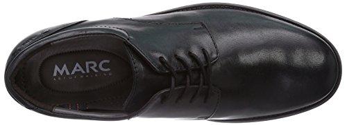 Marc Shoes 1.016.01-01/100-Ramon Herren Derby Schnürhalbschuhe Schwarz (Black 100)
