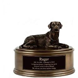 Perfect Memorials Custom Engraved Labrador Figurine Cremation Urn