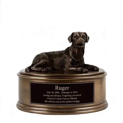 Perfect Memorials Custom Engraved Labrador Figurine Cremation Urn