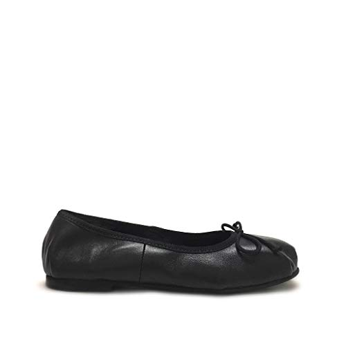 Vera Made Nero In Tipo Pelle Shoe Gar Italy Morbide Danza Ballerine Nere ncaZqC