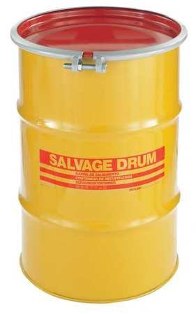 Transport Drum, Open Head, 30 gal., Yellow