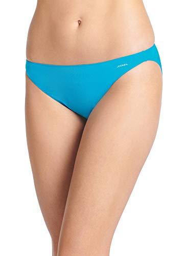 (Jockey Women's Underwear No Panty Line Promise Tactel String Bikini, Caribbean Waters, 5)