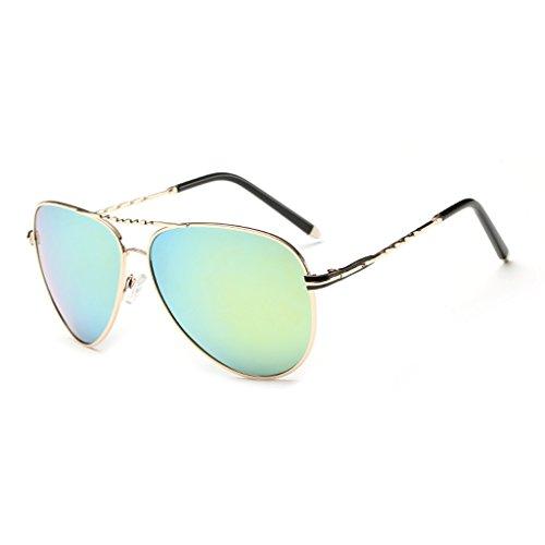 De TLMY Hombres Gafas Color Los Marco De del Sol Sol Gafas de Green Polarizadas Green Metálico r4wz45qv