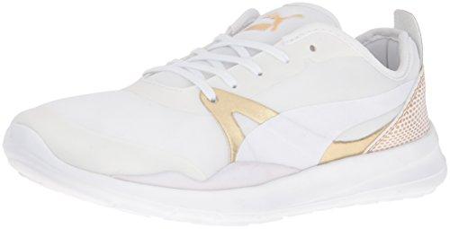 PUMA Women's Duplex Evo Gold Wn's Fashion Sneaker, Puma White, 9.5 M US