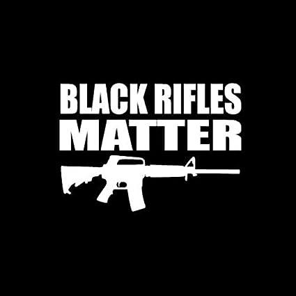 Adhesivo de vinilo adhesivo de rifles negros | Coches, camiones, furgonetas paredes portátiles | blanco | 5.5 x 3.9 pulgadas | DUC990