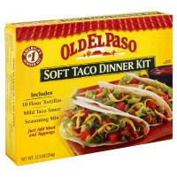 Soft Taco (OLD EL PASO Soft Taco Dinner Kit, 12.5 oz)