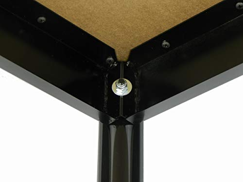 Correll 36'' High Standing / Stool Height Utility Table, 30'' x 60'' Fusion Maple High-Pressure Laminate Top with Black Frame , Rock Solid Commercial Quality (LT3060-16) by Correll (Image #9)