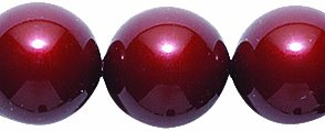 Swarovski Elements Crystal Round Pearl Beads, 10mm, Bordeaux, 10-Pack Shipwreck Beads 10CR648