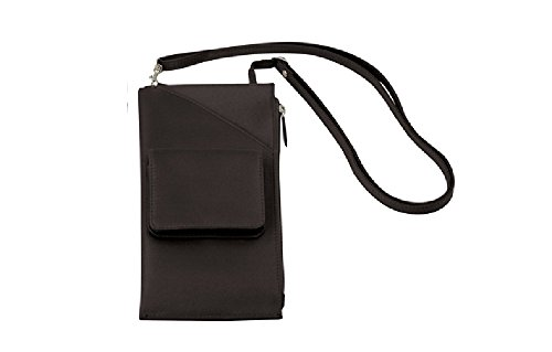 Travelon Cross Body Shoulder Travel Wallet Brown Neck Purse Passport Organizer - Dark Brown by Travelon