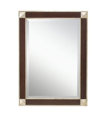 Kichler  78180 Malloy 44-Inch Beveled Mirror, Fruitwood Tone Finish with Distressed Silver Frame